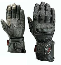 EVO Leather Thermal wind water proof Motorbike Motorcycle Gloves Carbon Fiber