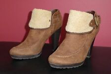 Women's M&S Limited Collection Suede Ankle Boots Faux Sheepskin Trim 6.5