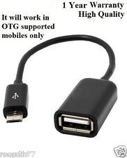 Micro USB OTG Cable - Attach Pendrive, Mouse, Keyboard To Mobiles/Tablets