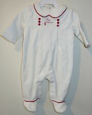 NWT Janie and Jack First Christmas Footed Romper - Boy's Sz 0-3M