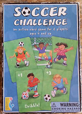 Soccer Challenge Card Game for 2 Players Ages 4 & Up FUN! FUN! FUN!