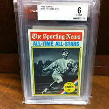 Ty Cobb ~ 1976 Topps Sporting News All Time All Stars Graded 6 EX-MT