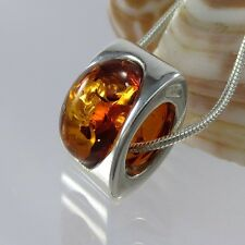 A368 Anhänger Beads 925 Sterling Silber Schmuck baltische Bernstein Amber