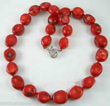 Beautiful Tibet Real red coral beads necklace ,18''