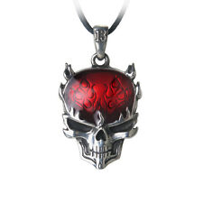 GENUINE Alchemy Gothic Pendant - Flame Brain | Men's Alternative Necklace