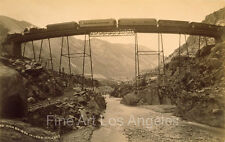 William Henry Jackson photo, High Railroad Bridge in the Loop, Colorado