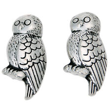 50pcs Antique Silver Carved Animal Owl Alloy Spacer Bead Charms Findings Craft C