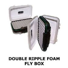Wychwood Vuefinder Small Fly Box Double RIPPLE FOAM (J8015) (5 x 3.5 inches)2016