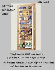 ADJUSTABLE shelf Door wall mount food pantry storage spice rack can organizer