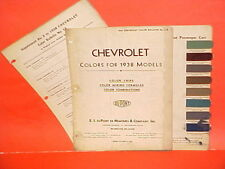 1938 CHEVROLET CAR MASTER DELUXE CABRIOLET COUPE COACH TOWN SEDAN PAINT CHIPS 38