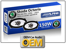 Skoda Octavia Rear Hatch Shelf speakers Alpine car speaker kit 150W Max power