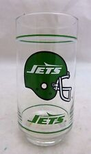 Vintage Mobil NFL New York Jets Football Cooler Glass Tumbler