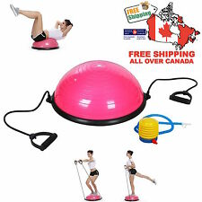 "Pink 23"" Inch Bosu Balance Ball Trainer Yoga Fitness Exercise w/ Pump Free Ship"