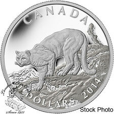 Canada 2014 $20 Cougar Atop a Mountain Silver Proof Coin - Low Mintage