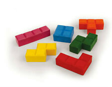 Kikkerland 4326 PUZZLE BLOCKS BLOK CRAYONS Set of 6 Different Colors non-toxic