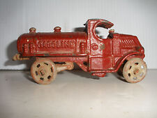 Antique  Early Cast Iron car  toy Gasoline truck  Hubley Arcade ? 5 1/4""
