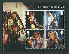GREAT BRITAIN 2017 DAVID BOWIE  MINIATURE SHEET NO BARCODE FINE USED