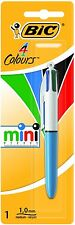 BiC Mini 4 Colours Ball Pen Red Black Blue & Green Ink Pens Retractable Biro Typ