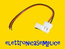 connettore striscia led 5050 2 pin 10mm con cablaggio a saldare (25SP)
