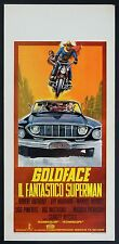 LOCANDINA, GOLDFACE IL FANTASTICO SUPERMAN MARANDI, MITCHELL, AUTO,CAR POSTER B