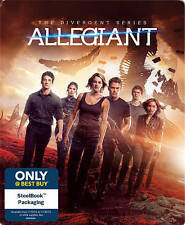 NEW!! The Divergent Series: Allegiant (Blu-ray, Includes Digital Copy SteelBook