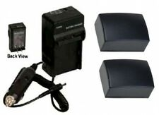 2 Batteries +Charger for Samsung HMX-F800BN HMX-F800SN SMX-F50 SMX-F50BP SMX-F53
