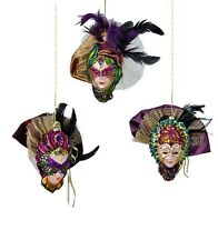 katherine's collection Carnivale mask Christmas ornaments set of 3