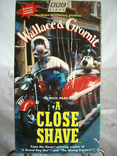 "Vintage VHS Video Tape - Animated  Wallace & Grommit  in ""A Close Shave""  1995"