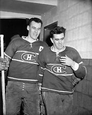 Emile Butch Bouchard & Rocket Richard - Canadiens , 8x10 B&W Photo