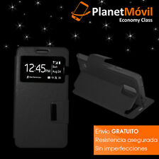 cover book and window black VODAFONE SMART PRIME 6 case with magnetic