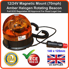 Rotation Orange Clignotant Danger Beacon 12V magnétique mount tracteur Van Camion LED