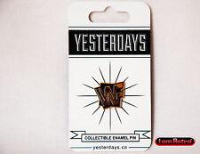 """WWF Logo 0.75"""" Hard Enamel Polished Gold Metal Plating Yesterdays.Co Pin"""
