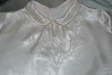 Sweet Vintage  Pale Pink Silky/Satin Baby Doll Dress