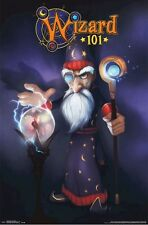 WIZARD 101 ~ MERLE AMBROSE CRYSTAL BALL 22x34 VIDEO GAME POSTER MMORPG