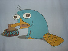 DISNEY Phineas and Ferb PERRY the PLATYPUS T SHIRT eating from a bowl