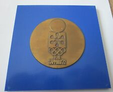 1972 SAPPORO WINTER Olympics Participation Medal with case