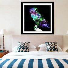 DIY 5D diamant broderie   Peinture Craft Owl In The Cross Foncé Point Home Decor