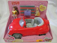 NEW Fisher Price Loving Family Dollhouse RED SPORTS CAR CONVERTIBLE 2002 Woman