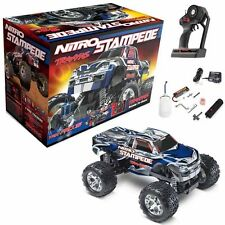 Traxxas 4109 1/10 Nitro Stampede 2WD Truck Silver/Blue (5 Channel 27.195MHz) RTR