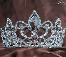 King Queen Full Crowns Imperial Medieval Tiaras Wedding Pageant Party Costumes