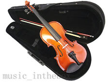 Student Model - 1/8 New Solid Wood Violin +Bow +Rosin +Case +Free Gift