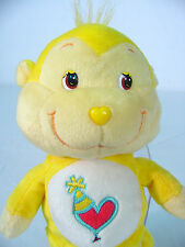 "8"" inch PLAYFUL HEART MONKEY 2003 CARE BEARS COUSINS~ Play Along~PLUSH~~ GREAT"