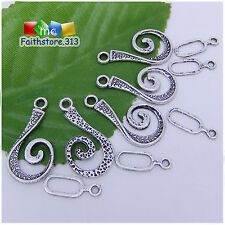 10 Sets Tibetan Silver Unique Connector Hook Toggle Clasps Jewelry Findings P097