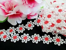 Beautiful 7/8 - inch Flower Lace Trim - price for 1 yard