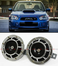 CHROME GRILL MOUNT COMPACT SUPER LOUD HORNS FOR MITSUBISHI EVO LANCER 7 8 9 X