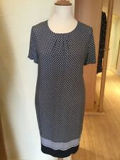 Olsen Dress Size 18 BNWT Navy Ivory Spotted RRP £139 Now £55