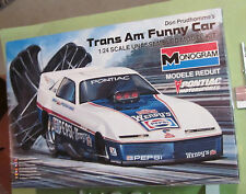 Monogram Don Prudhomme Trans Am Funny Car F/C Kit # 711 '85 Issue Unbuilt in Box