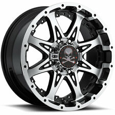 American Outlaw Buckshot 16x8 6x139.7 (6x5.5) -6mm Machined Black Wheels Rims