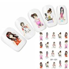 Tattoo Nail Art Anime Manga Japan Glitzer Aufkleber Nagel Sticker Neu!