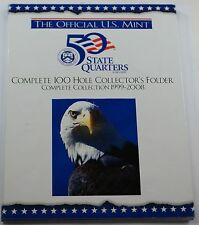 Complete 50 State Quarter Set P&D with 100 Coins in Collector's Folder